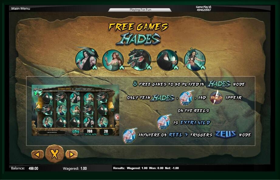Zeus Vs Hades Slot Machine