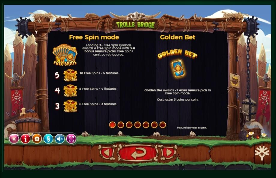 trolls bridge slot machine detail image 6