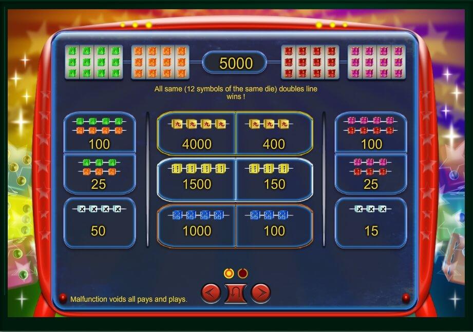 Mad Cubes 25 Slot Machine