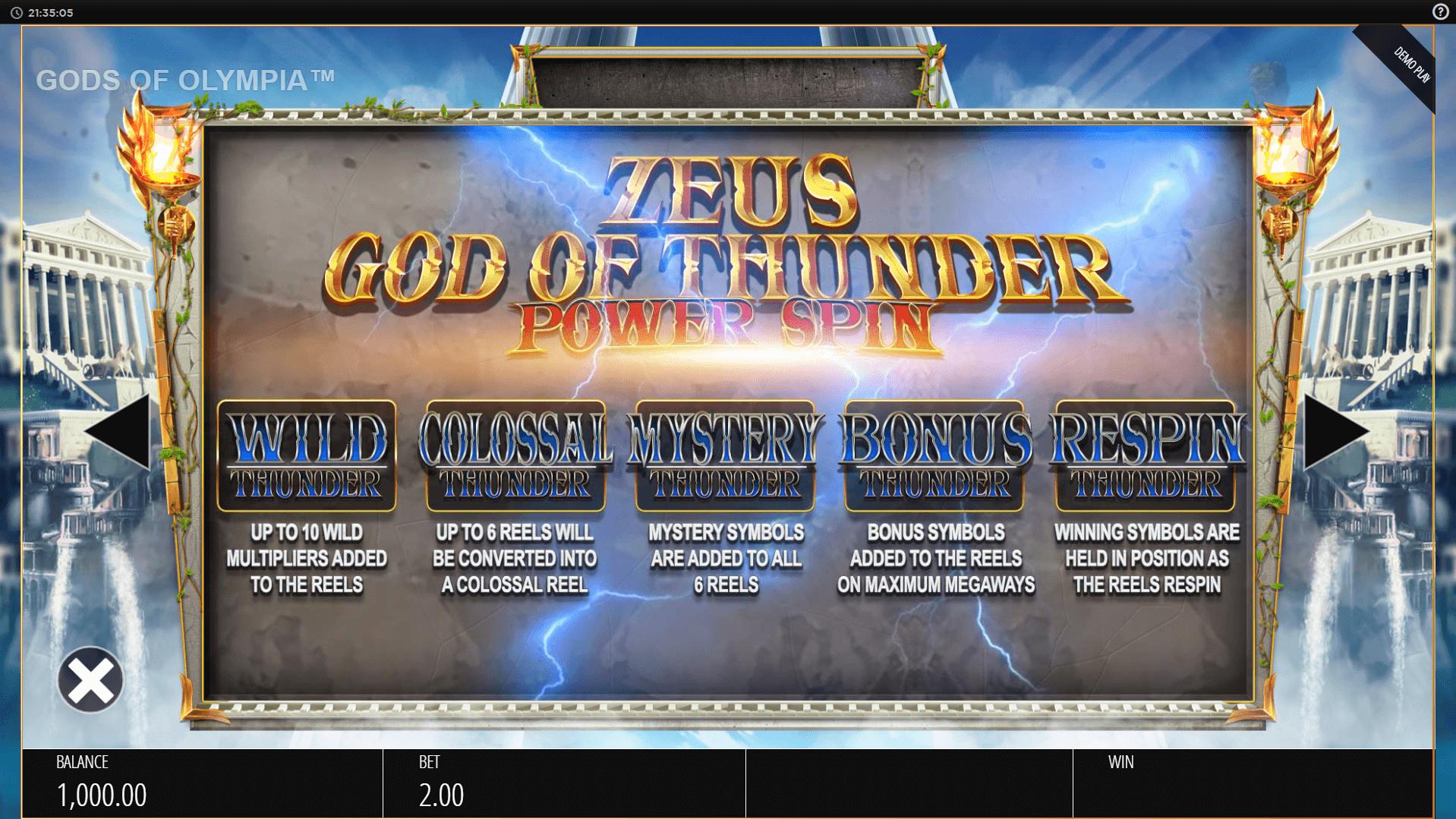 Gods of Olympus Megaways Slot Machine