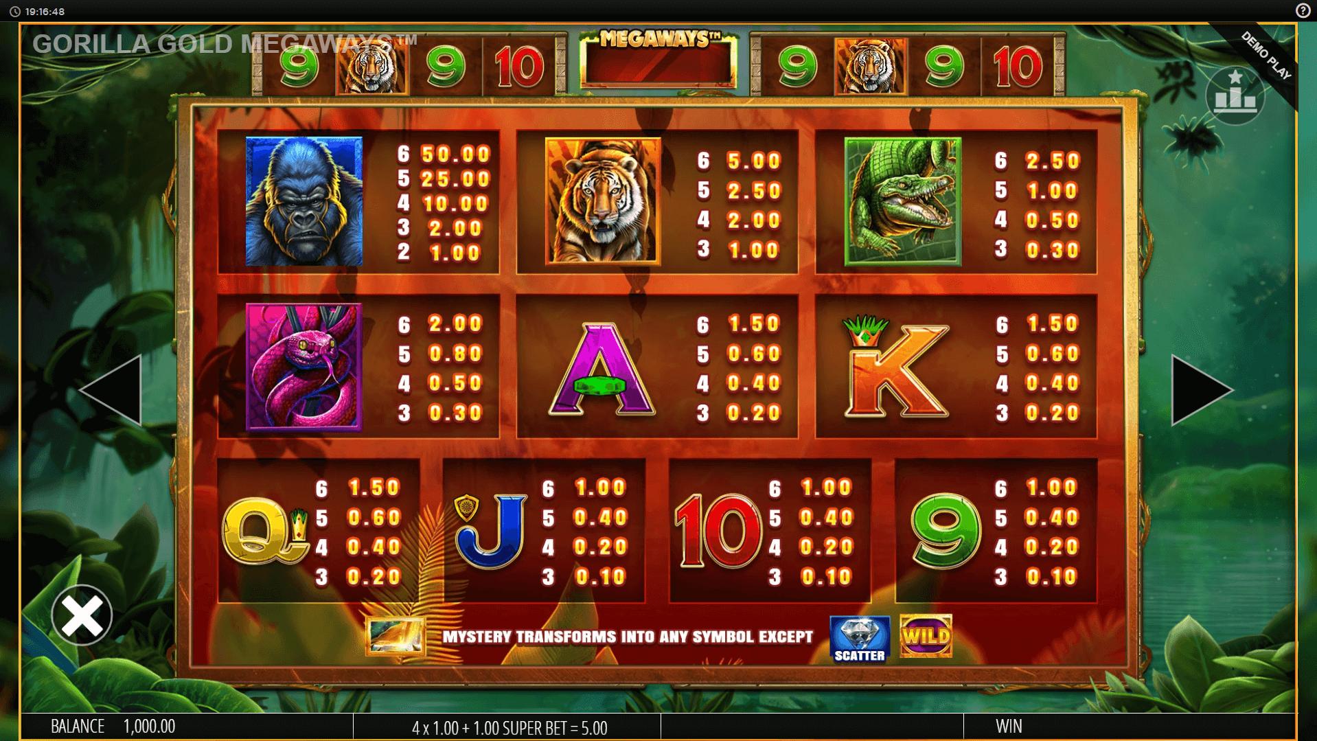 Play Golden Gorilla Slot Machine Free with No Download