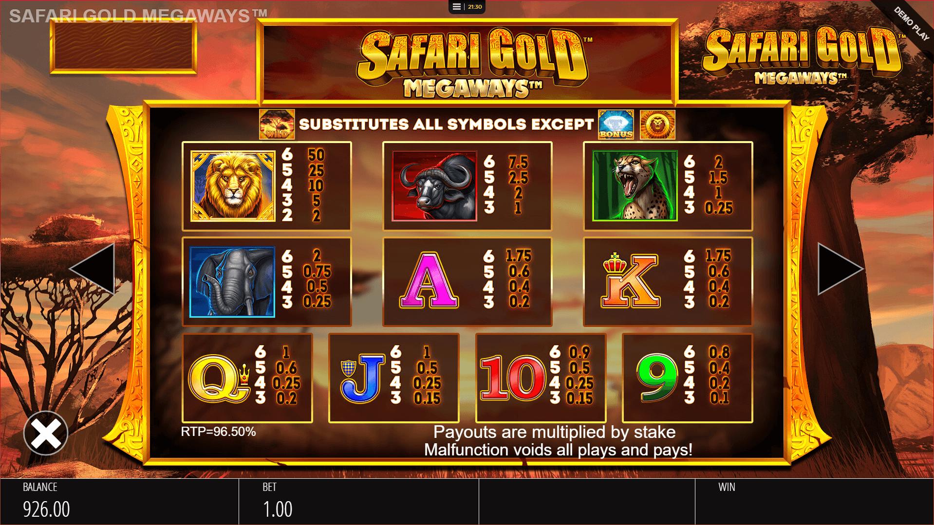 Safari Gold Megaways Slot Machine