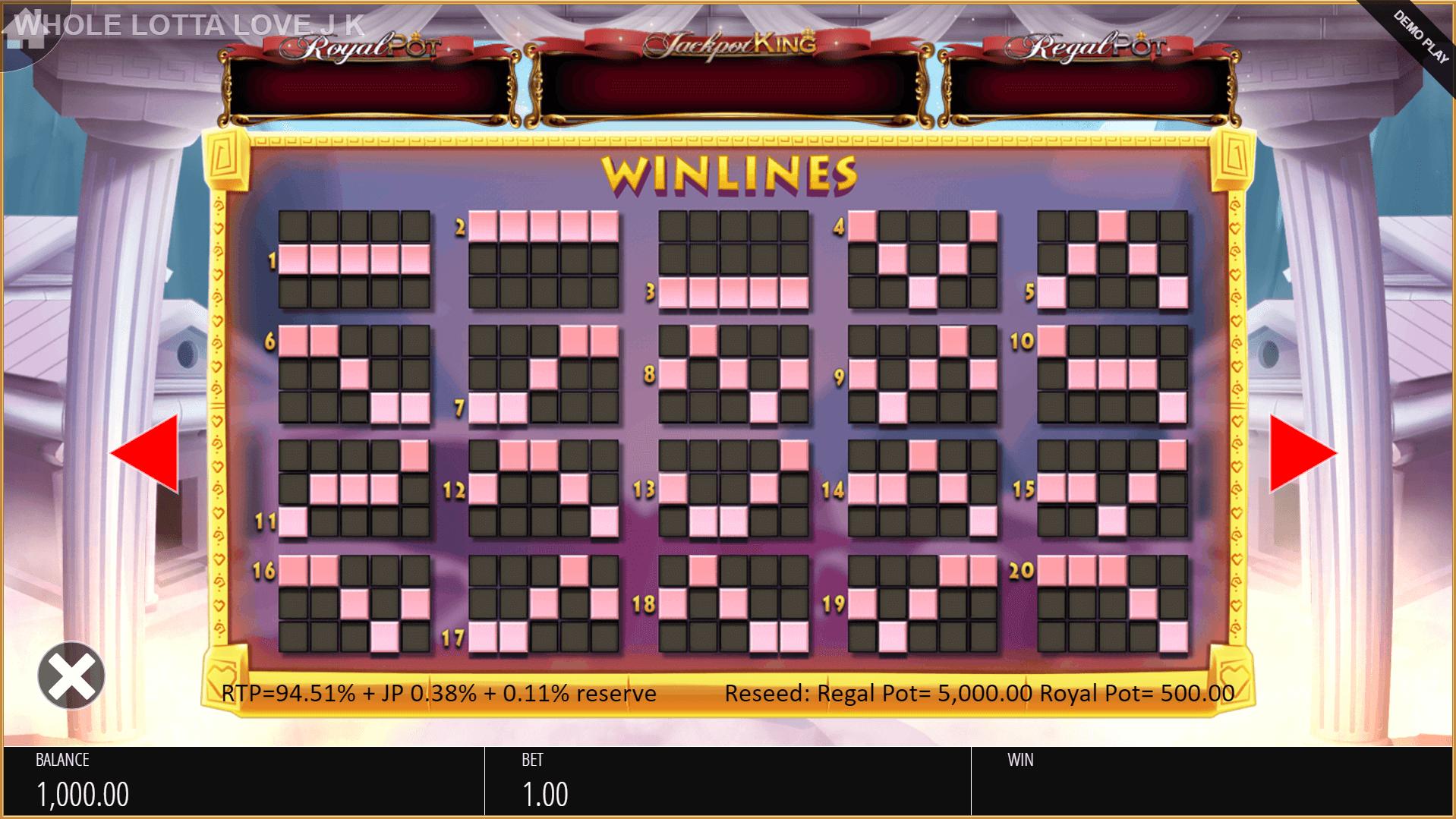 Whole Lotta Love Slot Machine