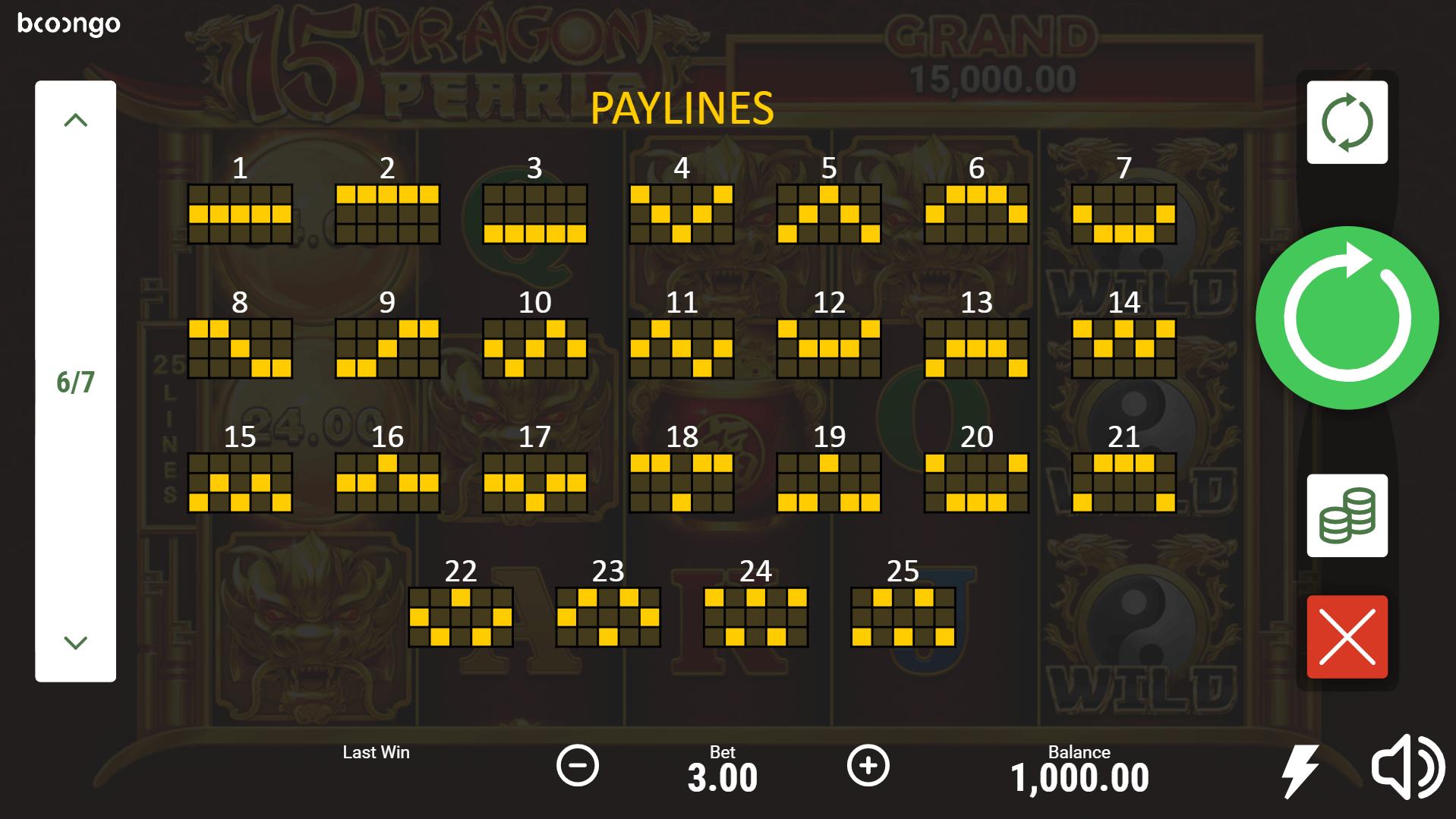 15 Dragon Pearls Slot Machine