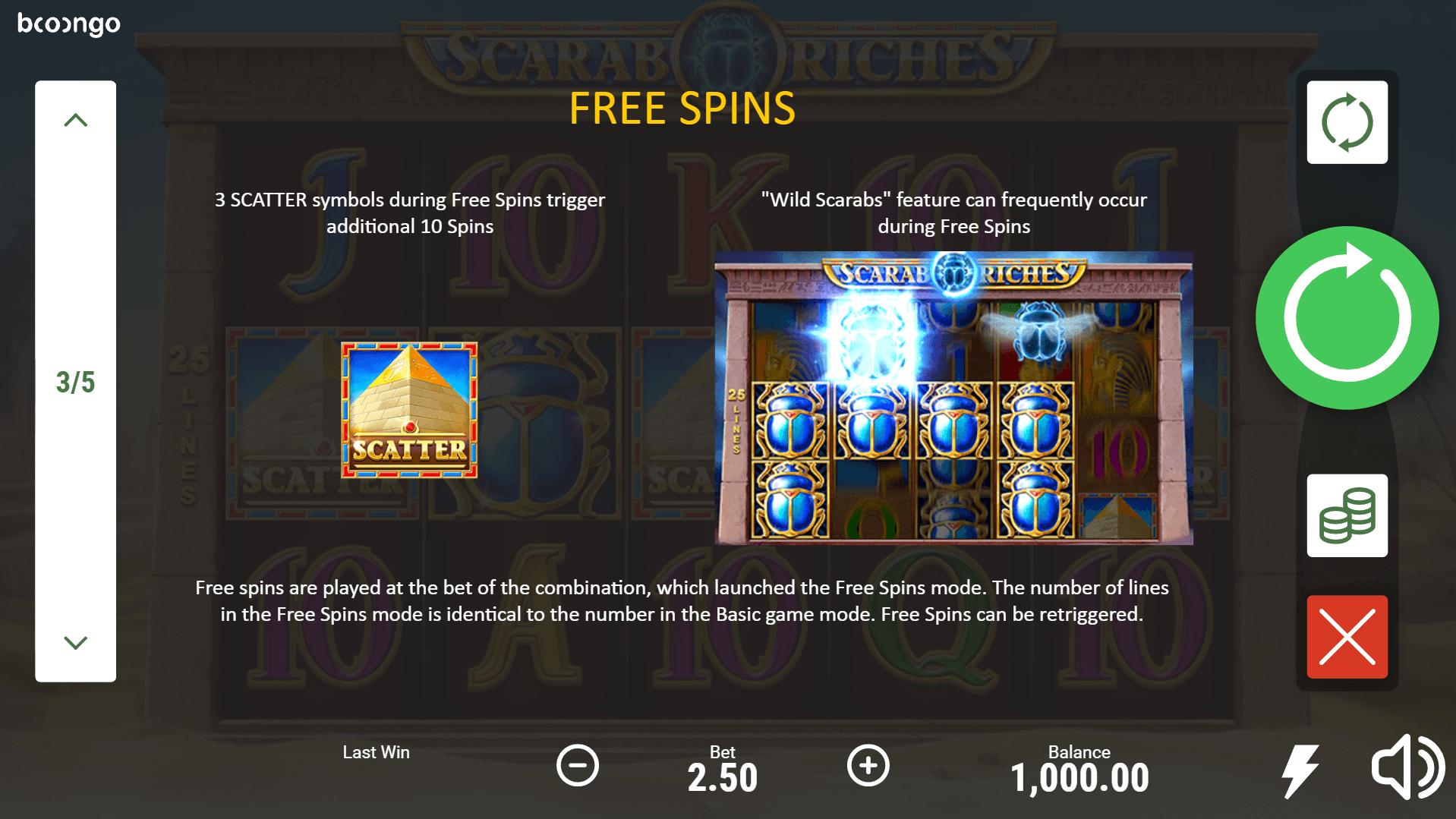 Scarab Riches Slot Machine