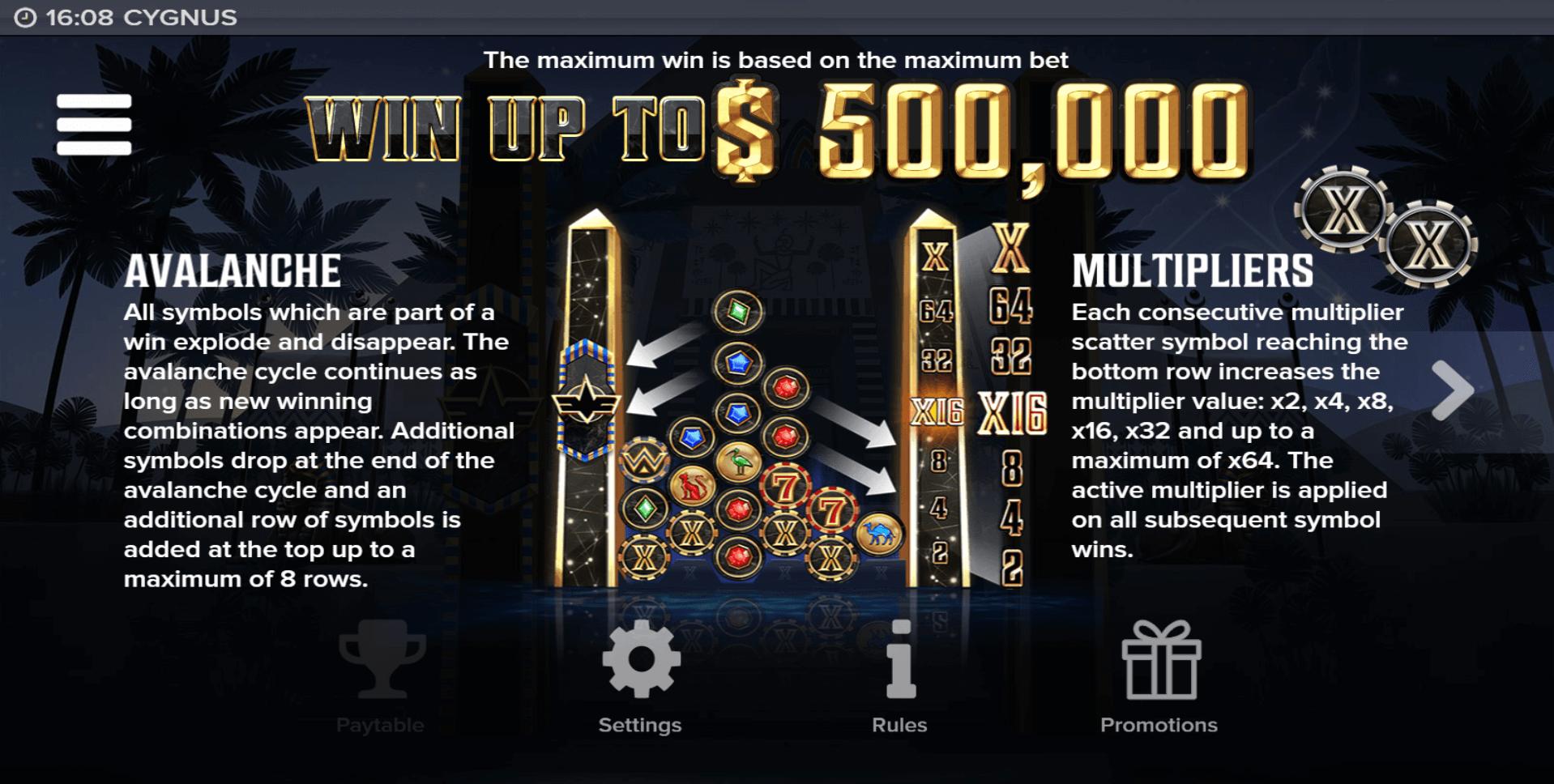 Cygnus Slot Machine