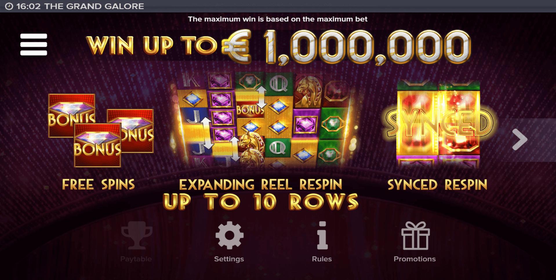 Grand Galore Slot Machine