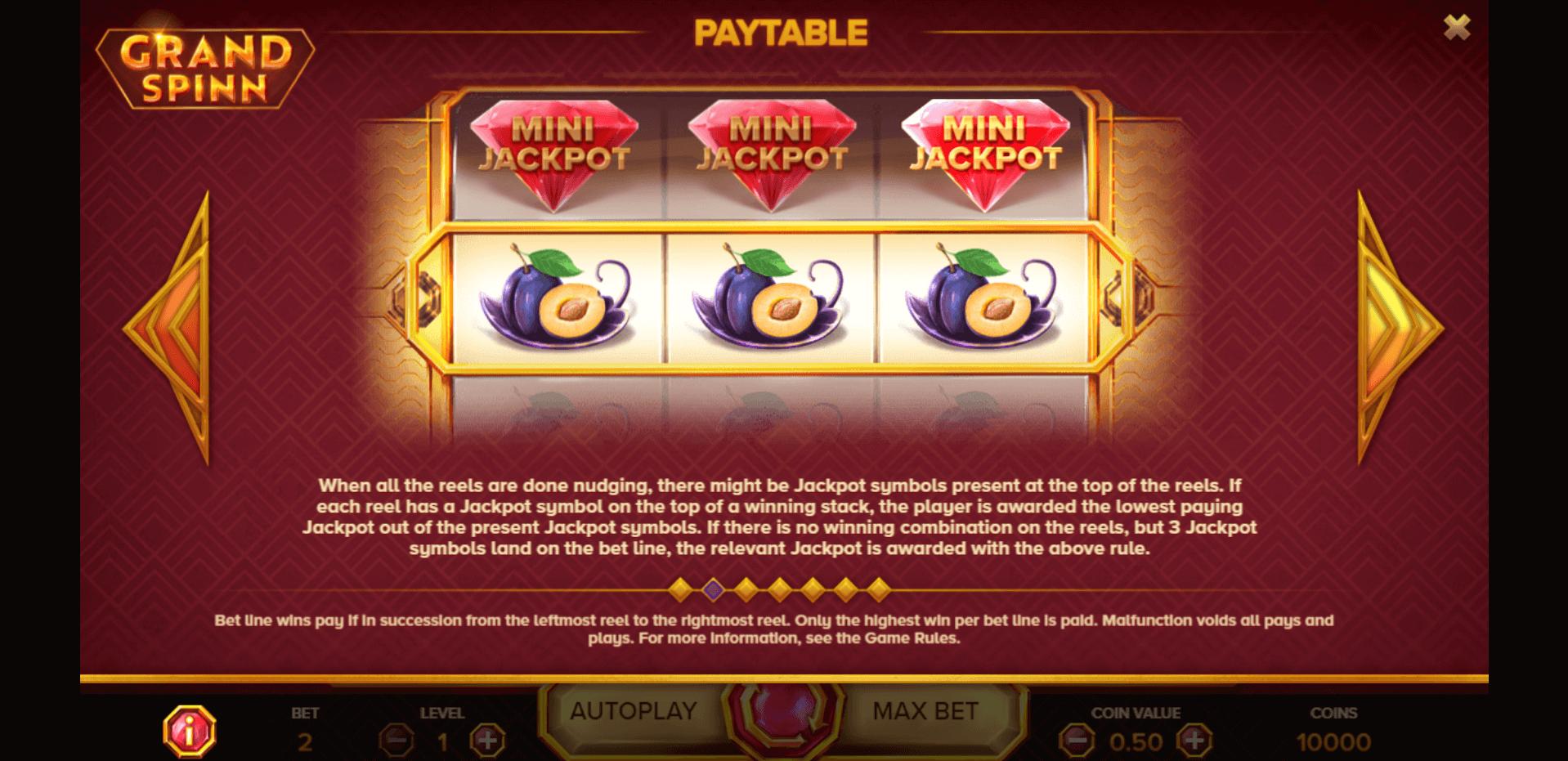 Grand Spinn Slot Machine