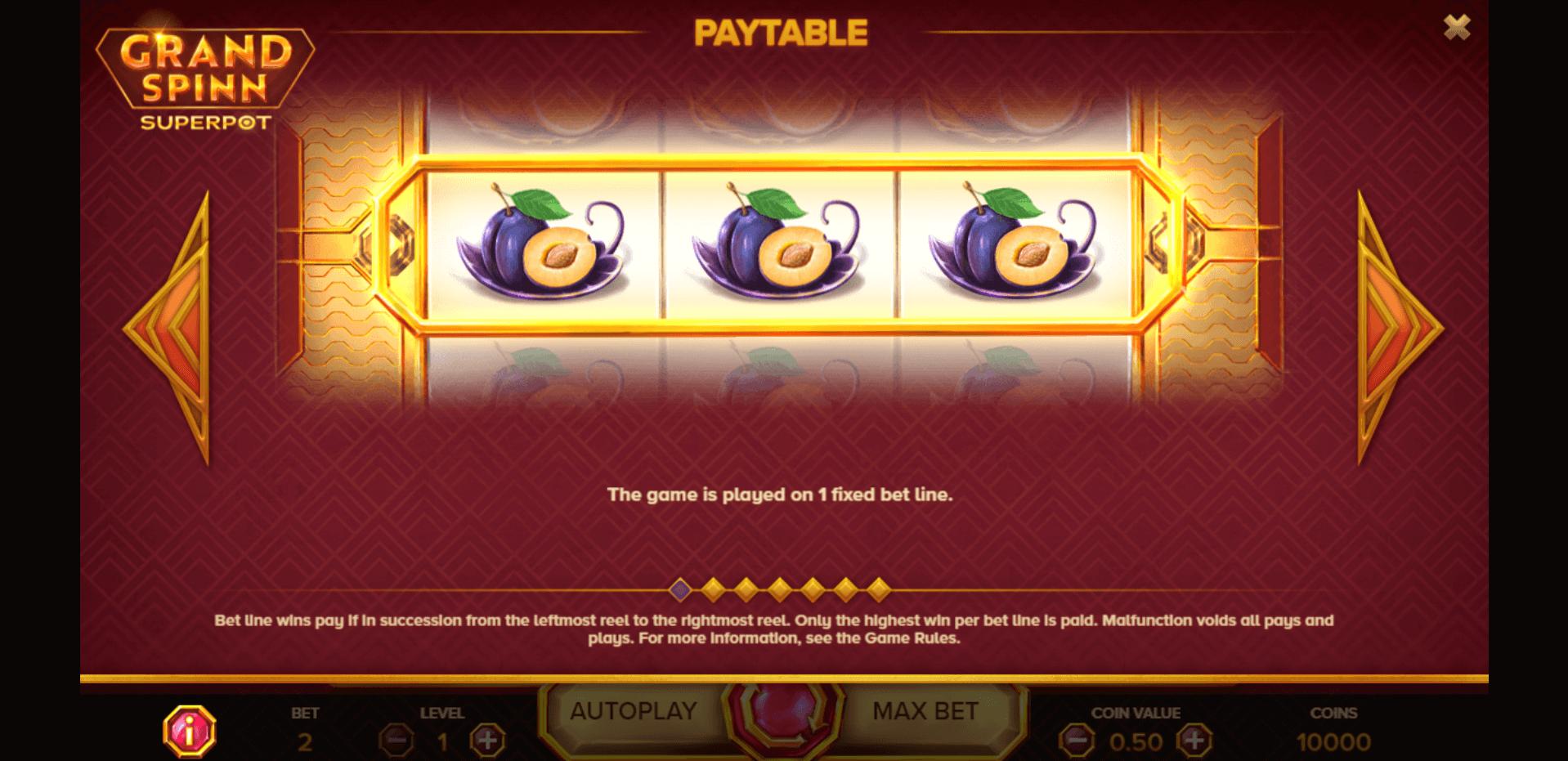 Grand Spinn Superpot Slot Machine