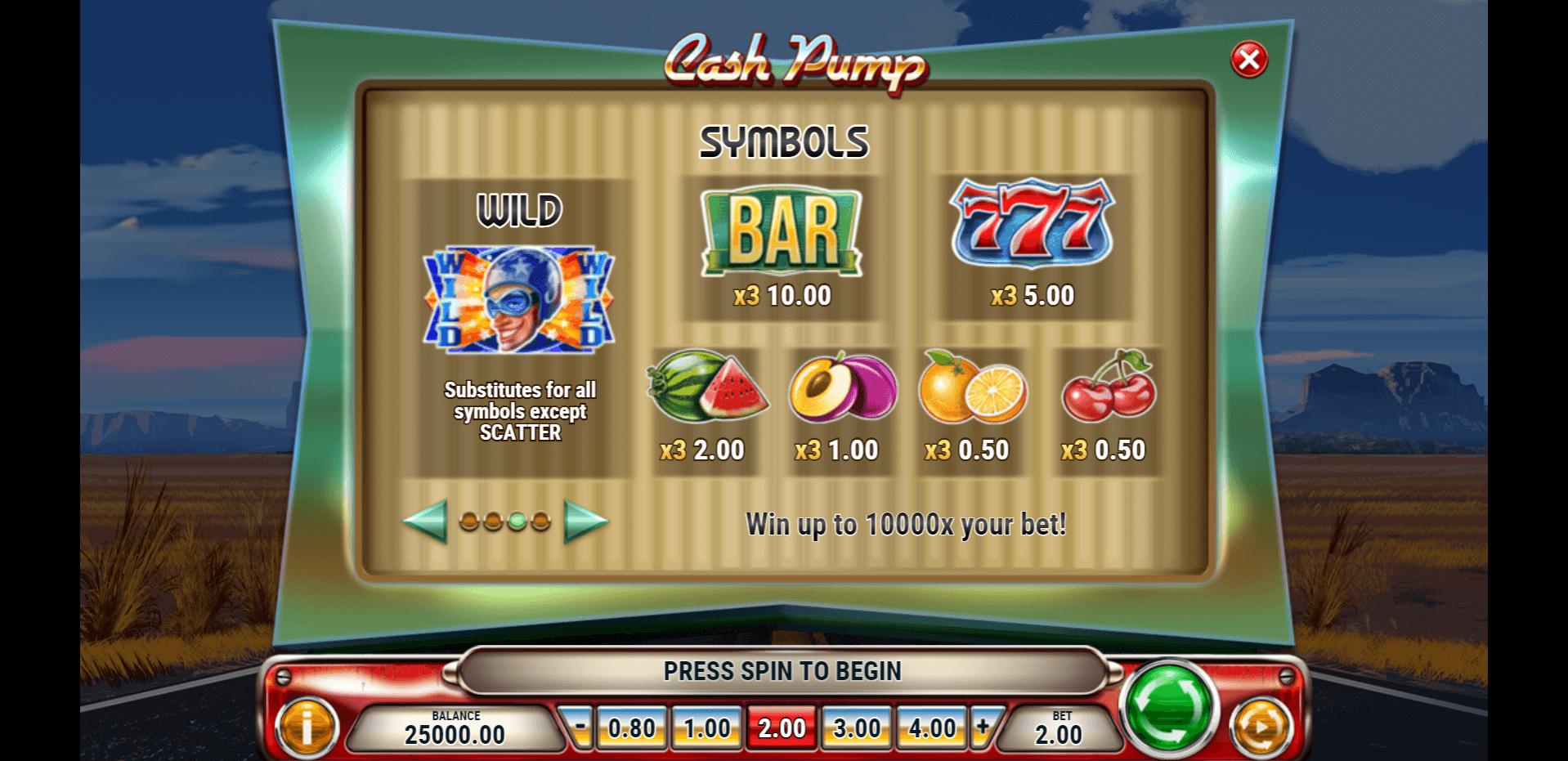 Cash Pump Slot Machine