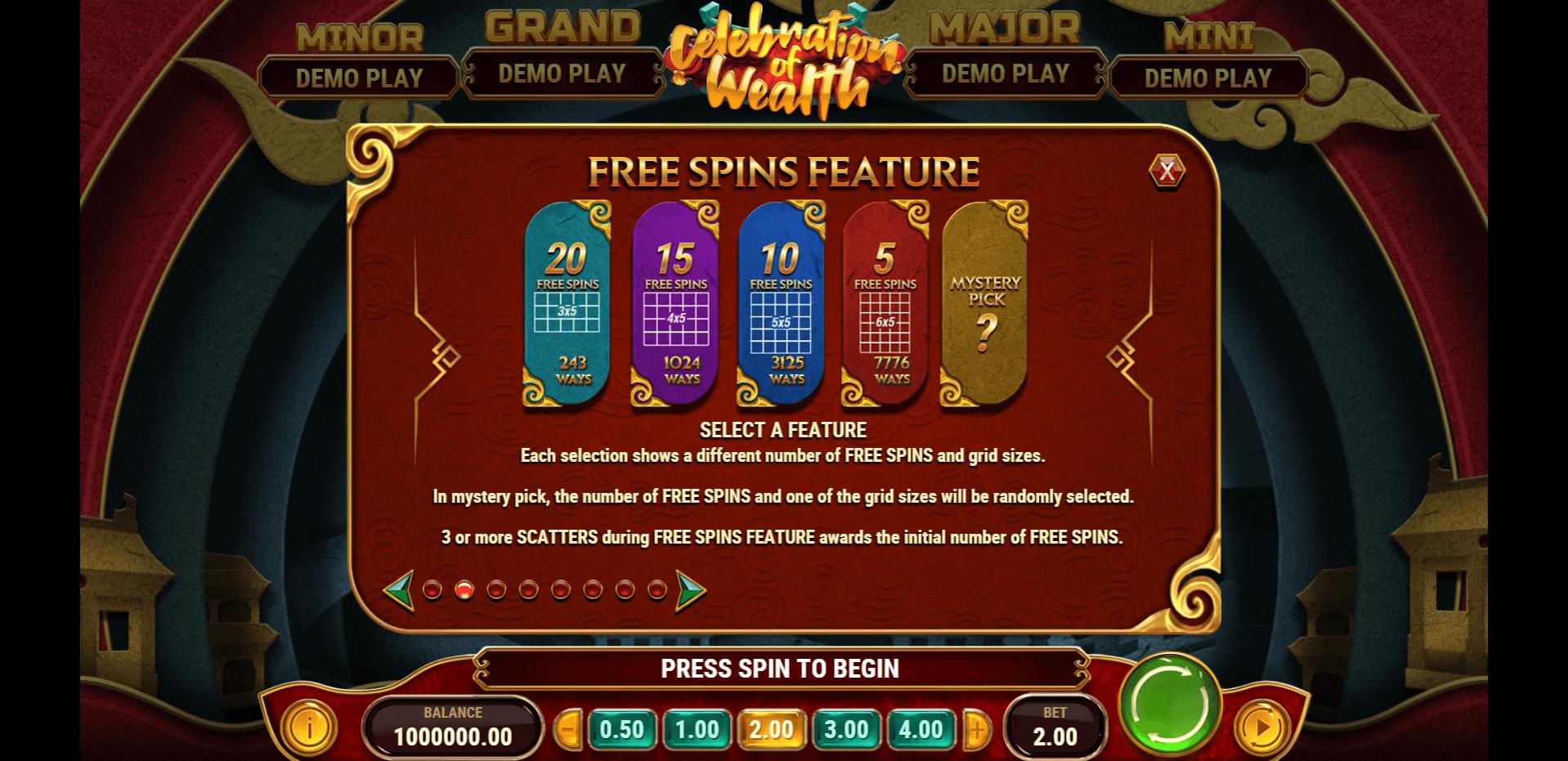 Celebration Of Wealth Slot Machine