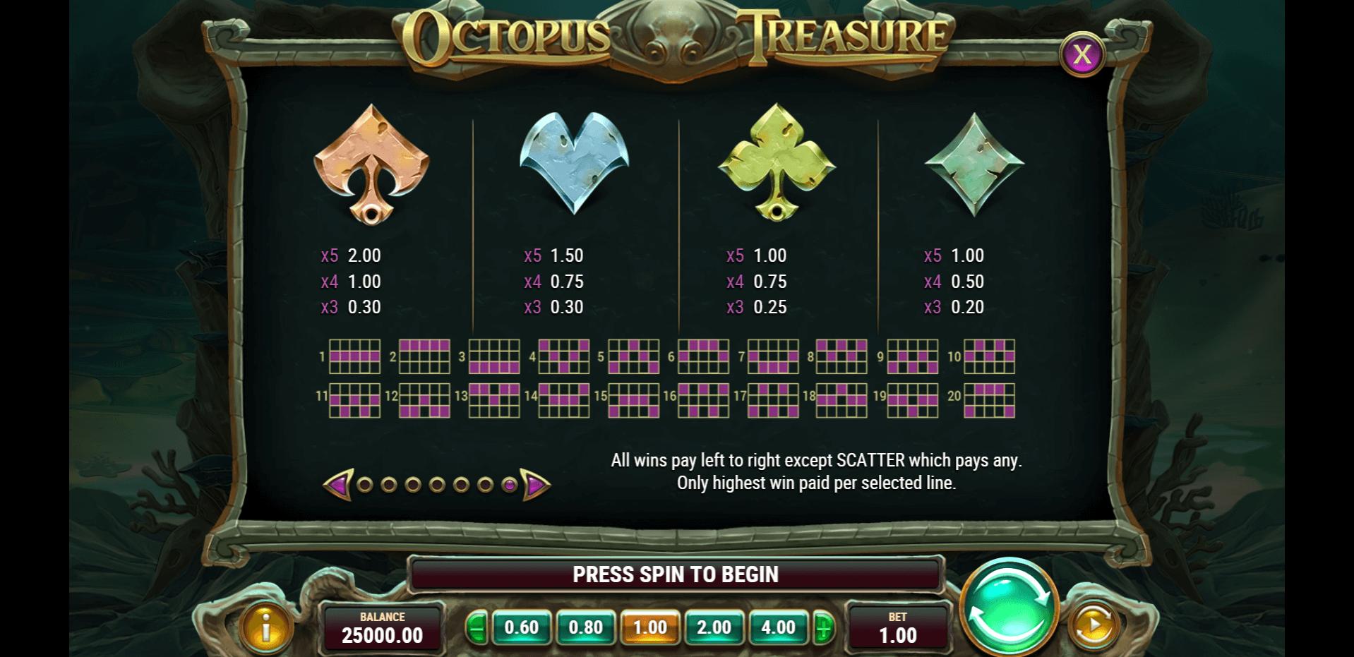 Octopus Treasure Slot Machine