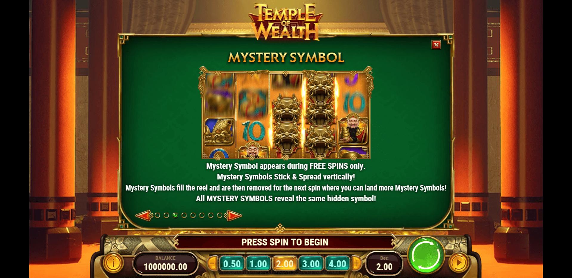 Temple Of Wealth Slot Machine