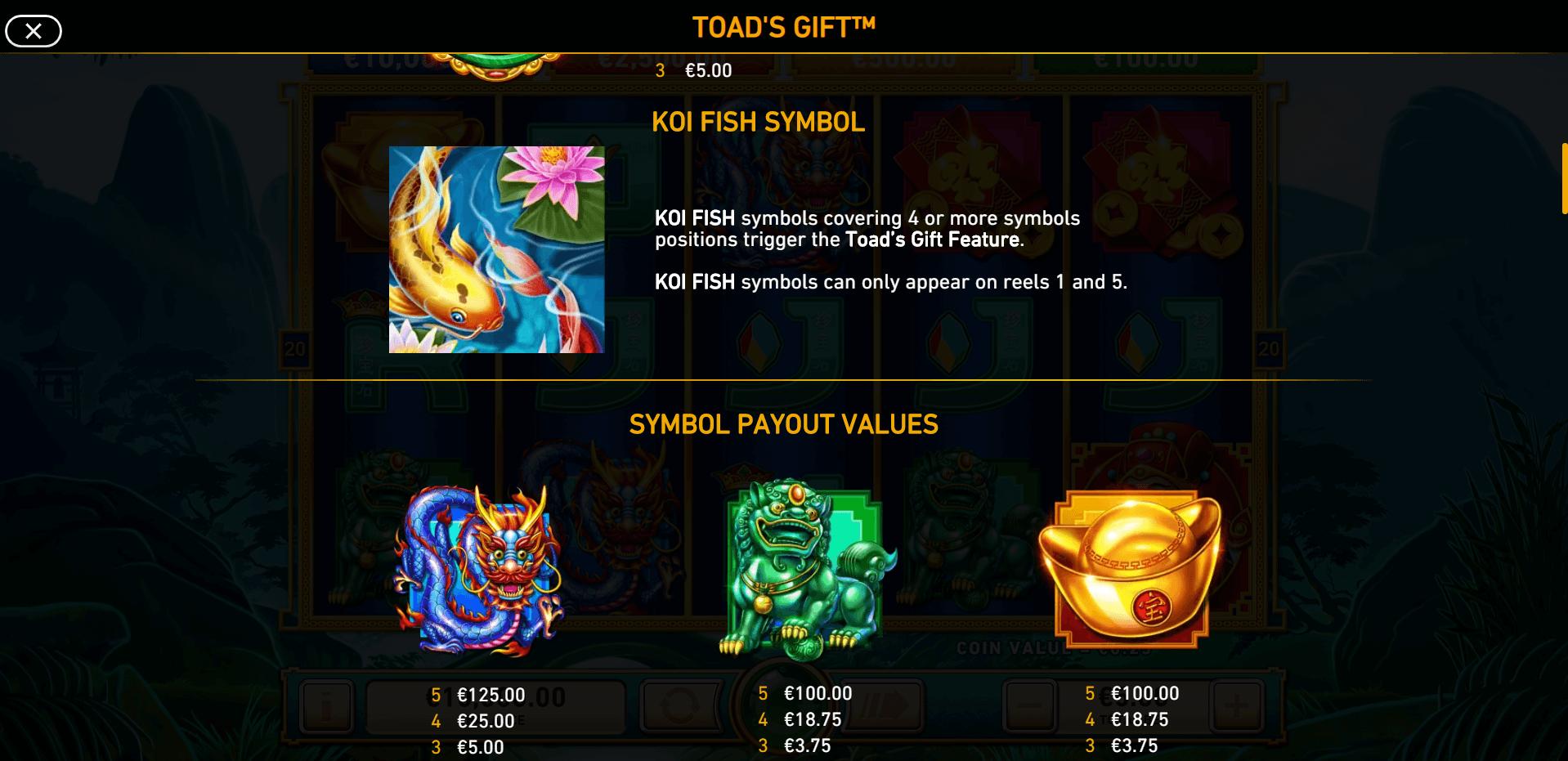 Toads Gift Slot Machine
