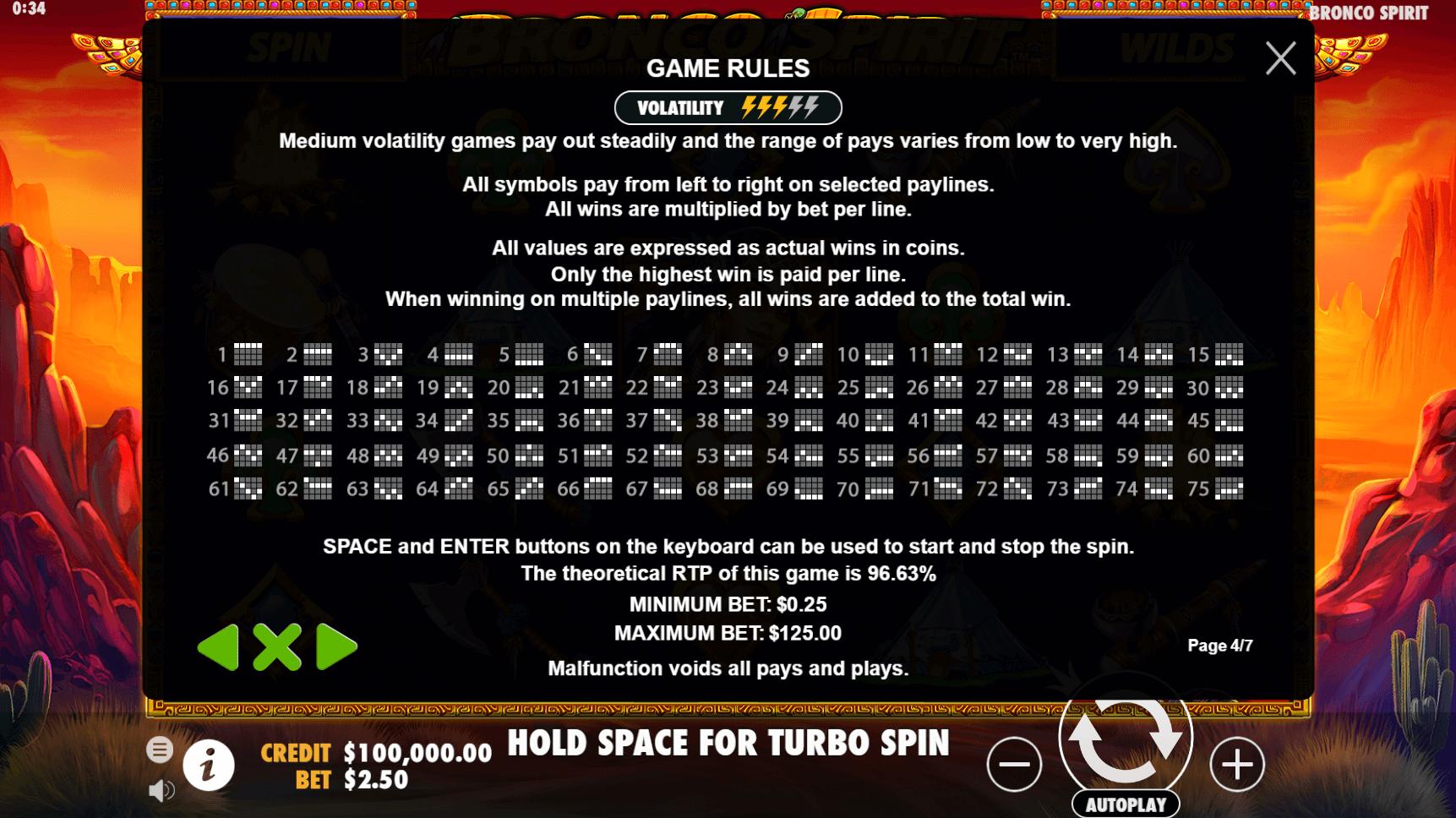 Bronco Spirit Slot Machine