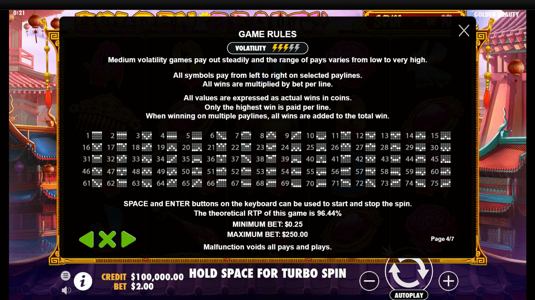 Golden Beauty Slot Machine