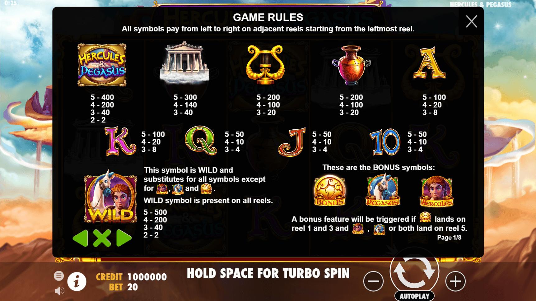 Online Hercules Slot Info
