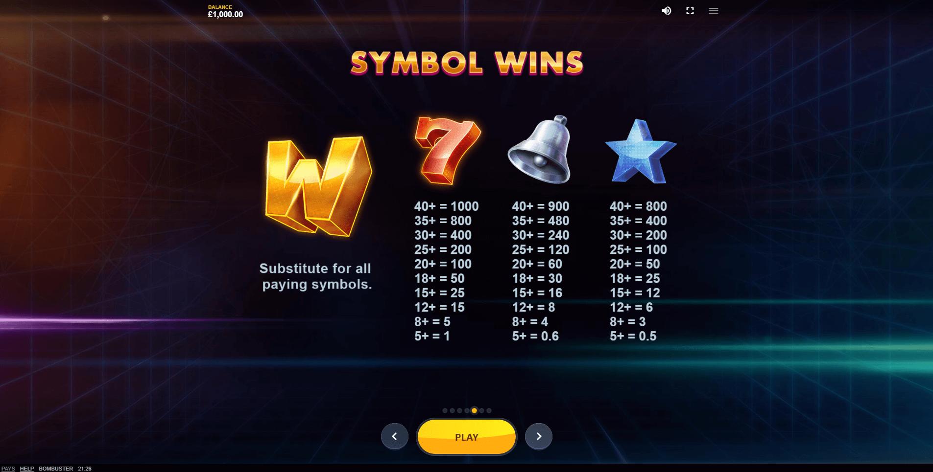 Bombuster Slot Machine