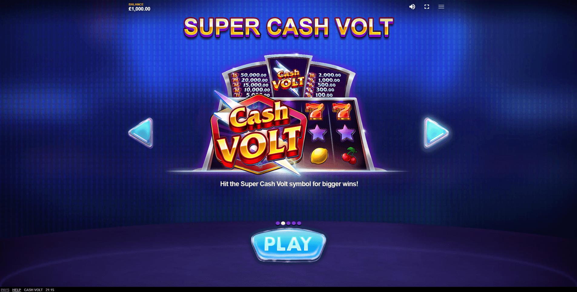 Cash Volt Slot Machine