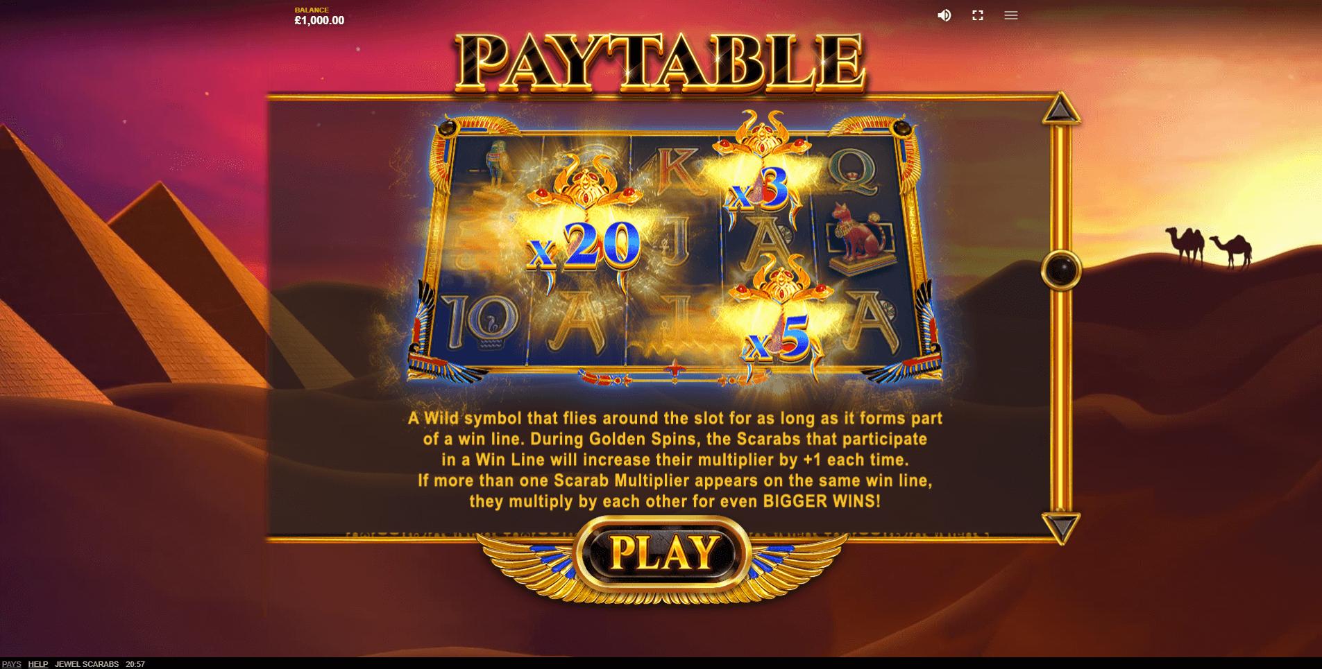 Jewel Scarabs Slot Machine