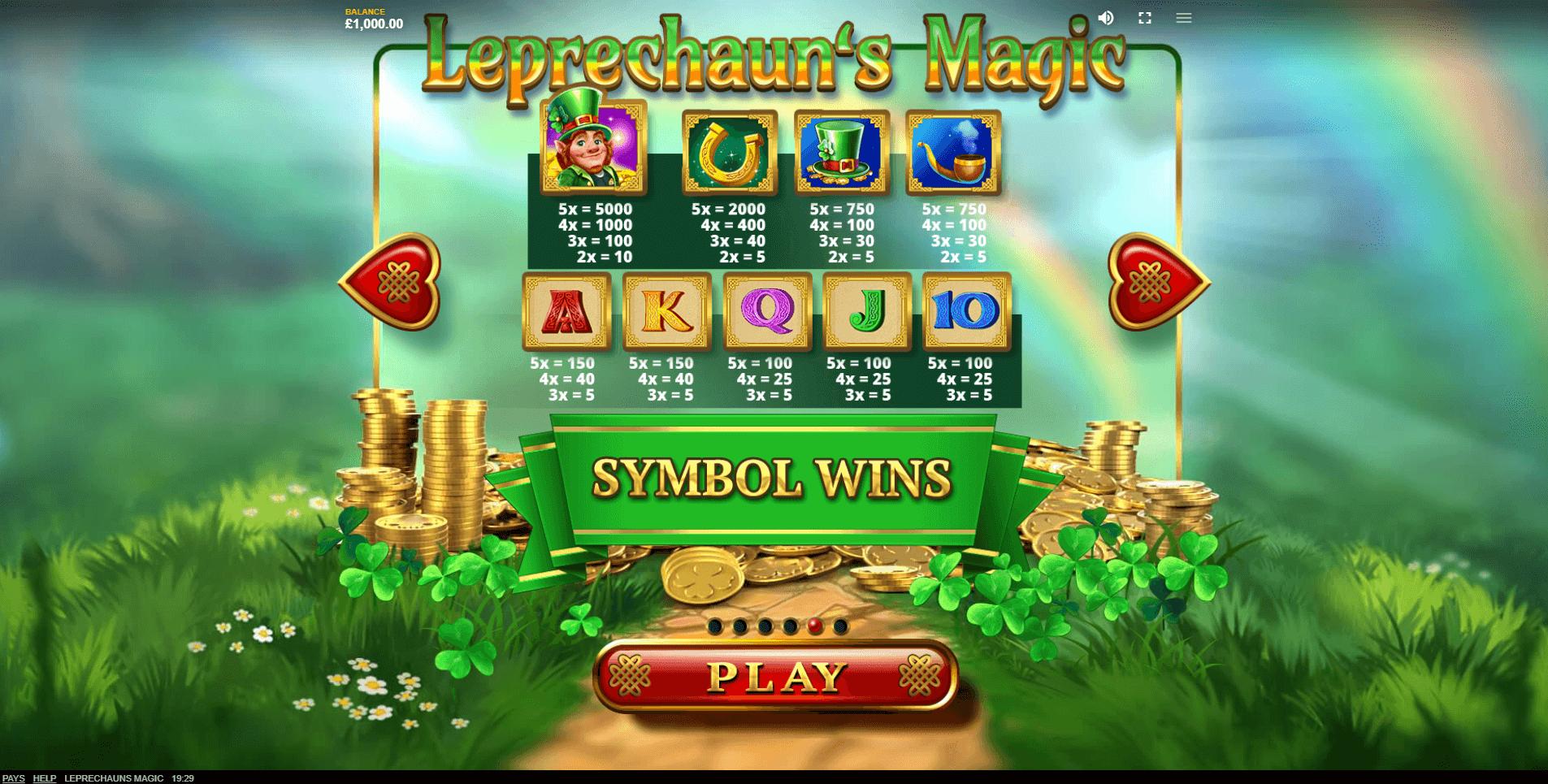 Leprechauns Magic Slot Machine