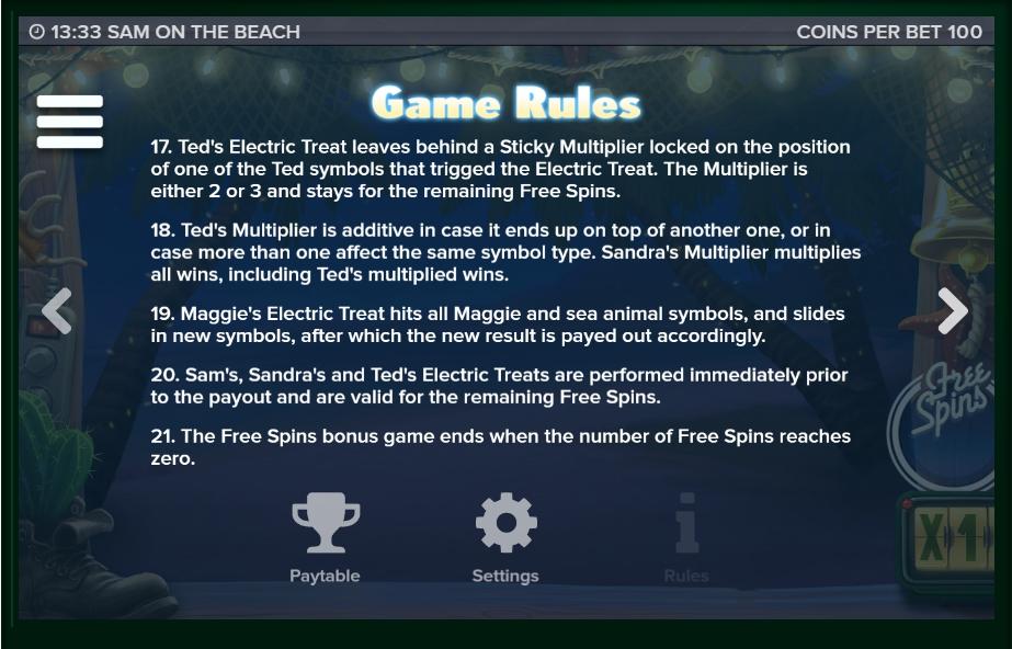 sam on the beach slot machine detail image 0