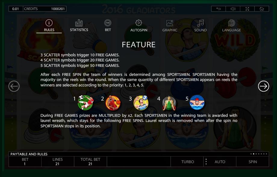 2016 gladiators slot slot machine detail image 12