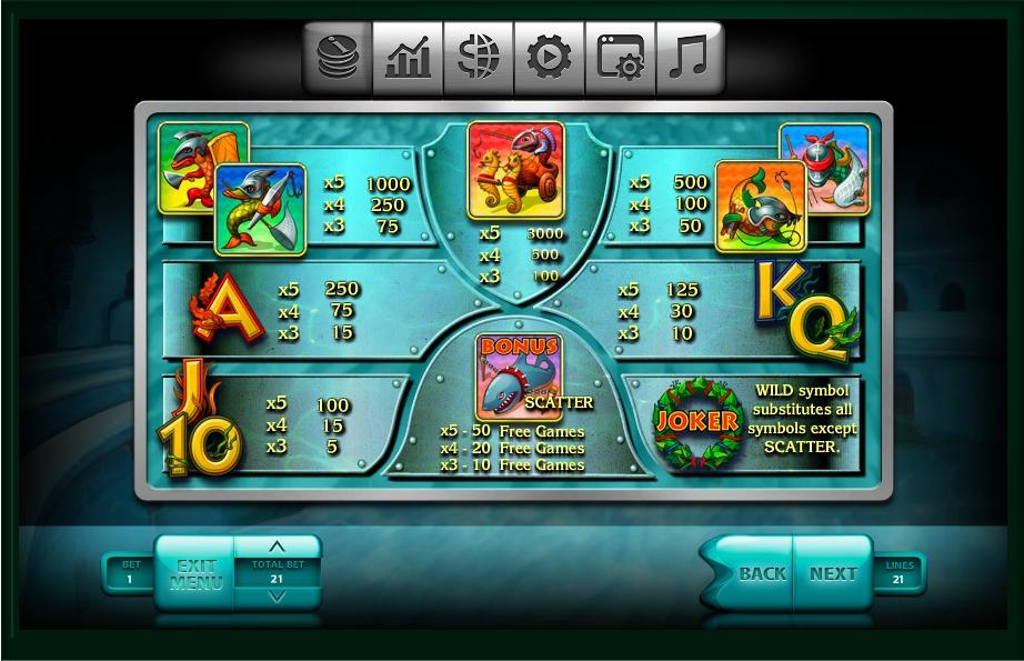2016 gladiators slot slot machine detail image 6