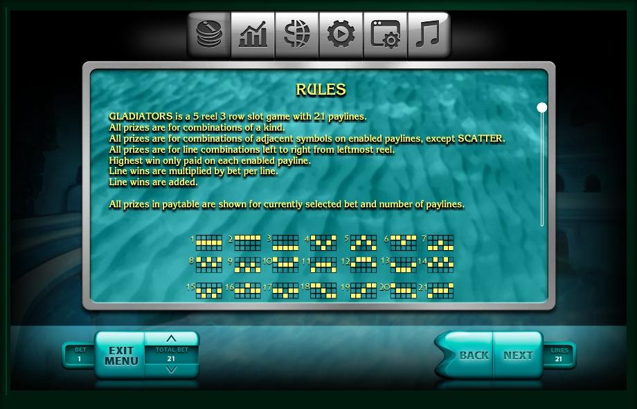 2016 gladiators slot slot machine detail image 5