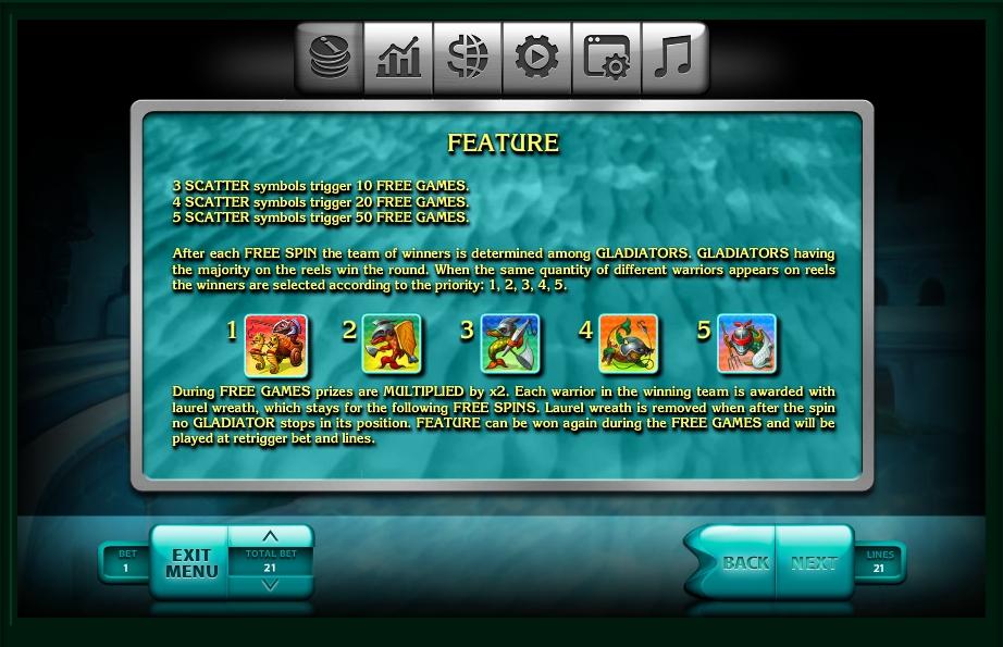 2016 gladiators slot slot machine detail image 4