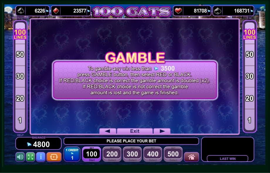 100 cats slot machine detail image 2