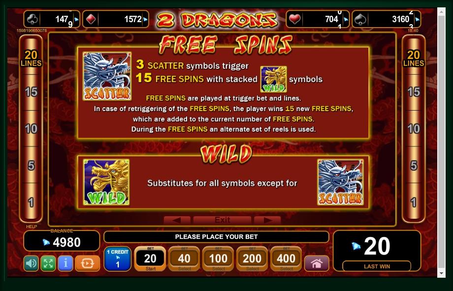 2 Dragons Slot Machine