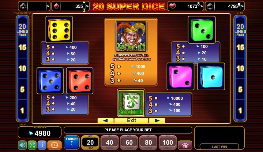 20 super dice egt casino slots lar?vpn online