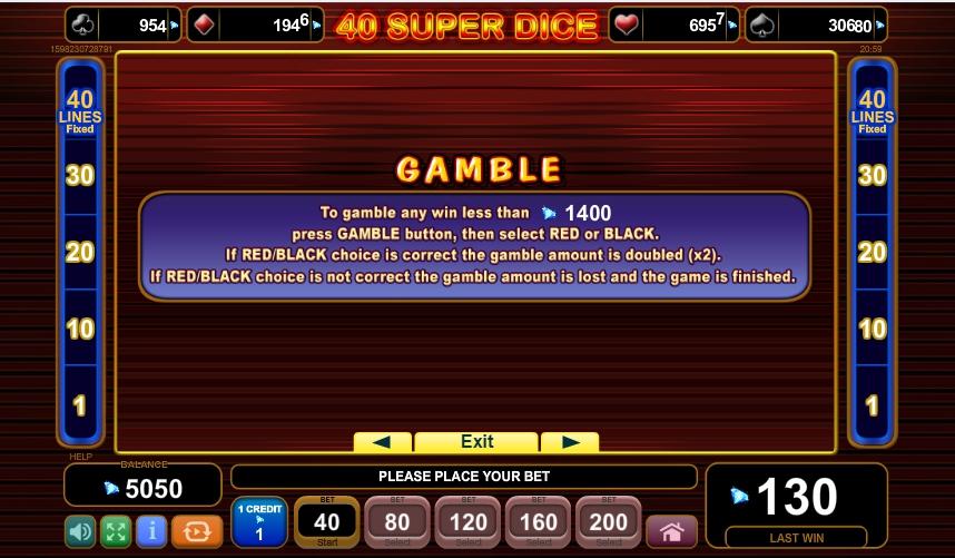 40 super dice slot slot machine detail image 2