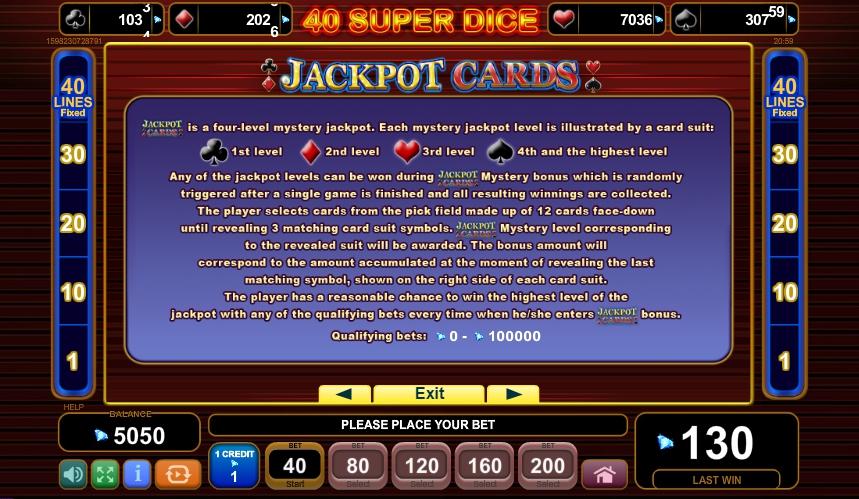 40 Super Dice Slot Machine