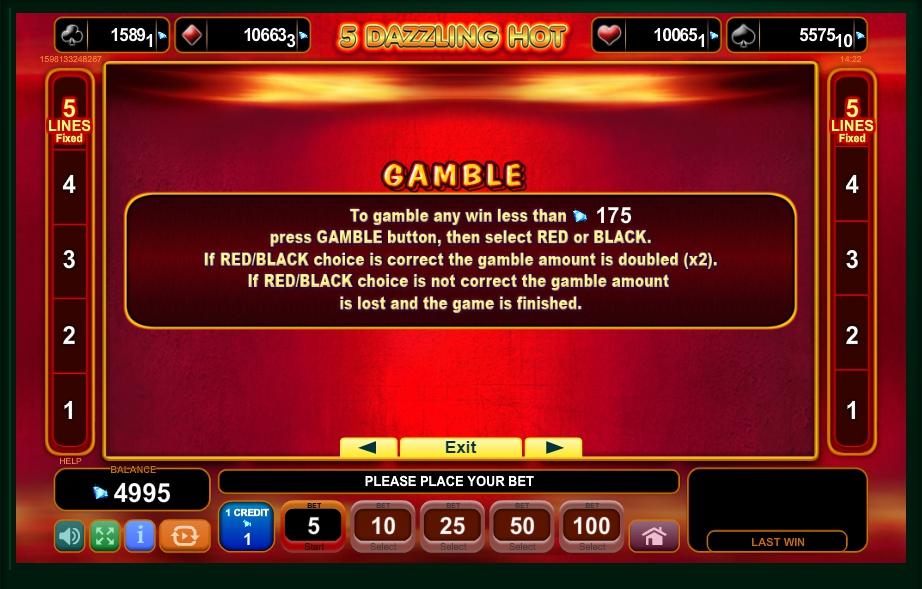 5 dazzling hot slot machine detail image 2