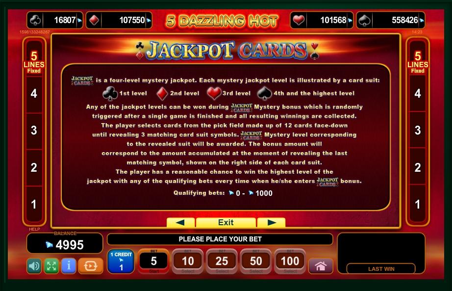 5 dazzling hot slot machine detail image 1