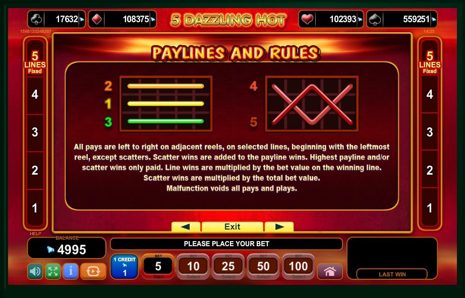 5 dazzling hot slot machine detail image 0