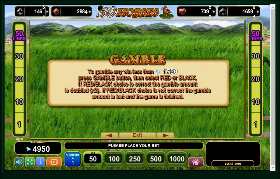 50 horses slot machine detail image 2