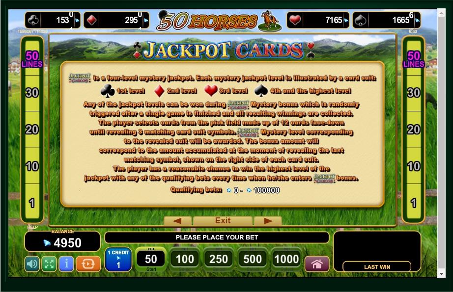 50 horses slot machine detail image 1