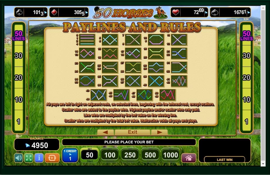 50 horses slot machine detail image 0