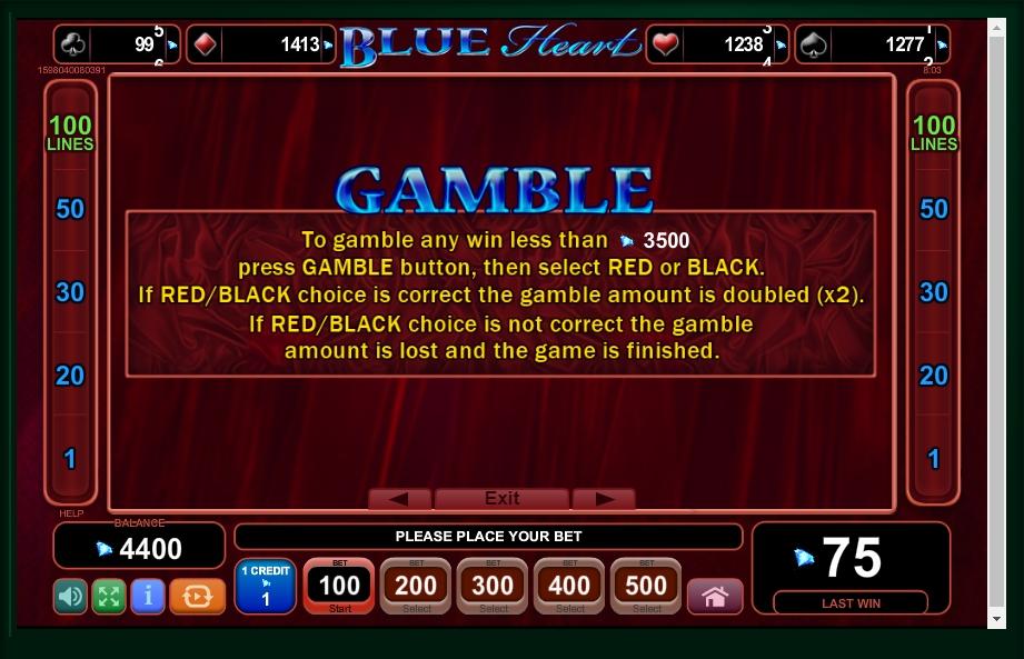 blue heart slot machine detail image 2
