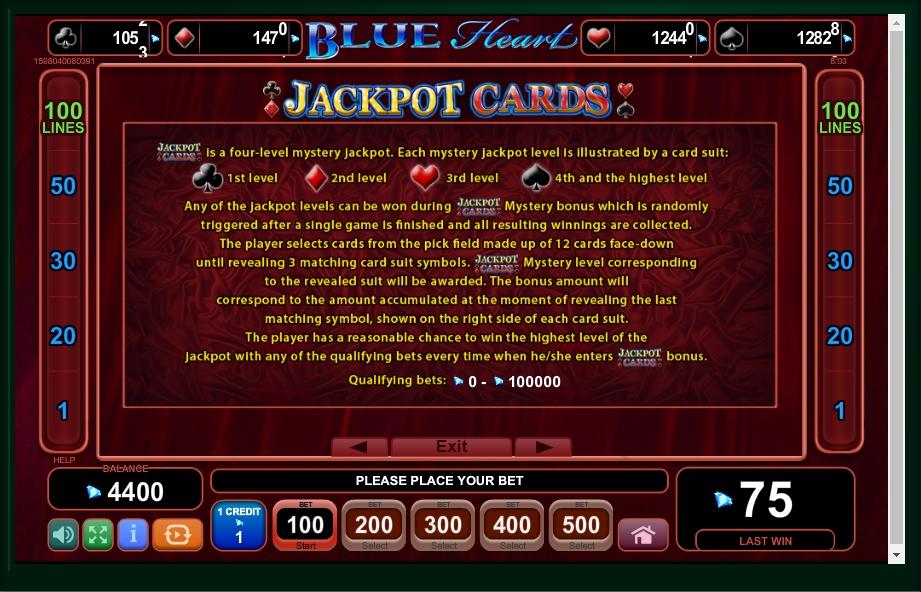 blue heart slot machine detail image 1