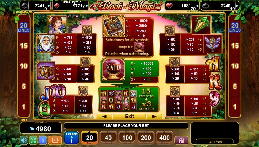 book of magic slot machine detail image 4