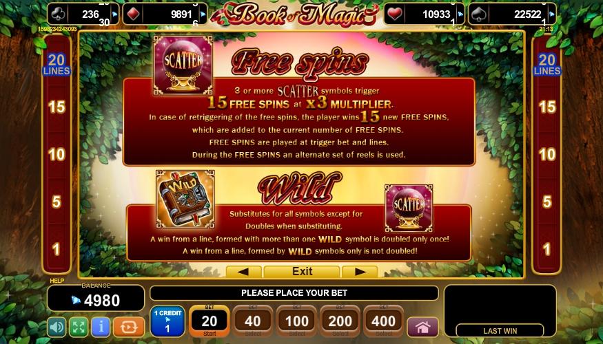 book of magic slot machine detail image 3