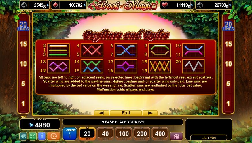 book of magic slot machine detail image 0