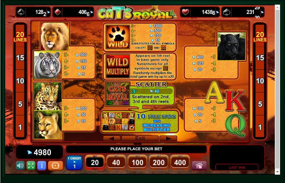 cats royal slot machine detail image 4