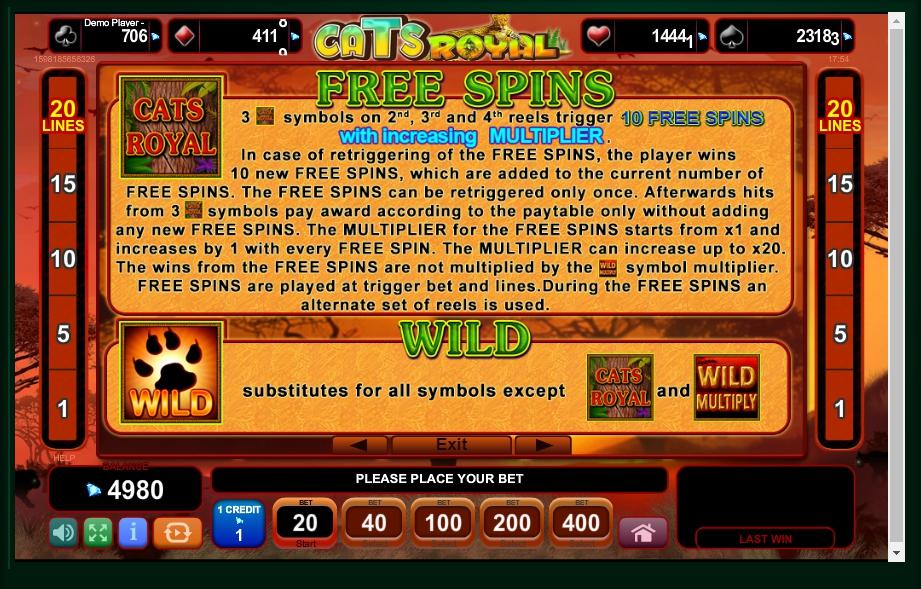 cats royal slot machine detail image 3