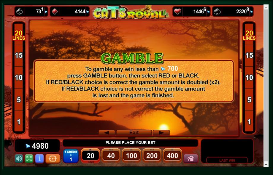cats royal slot machine detail image 2
