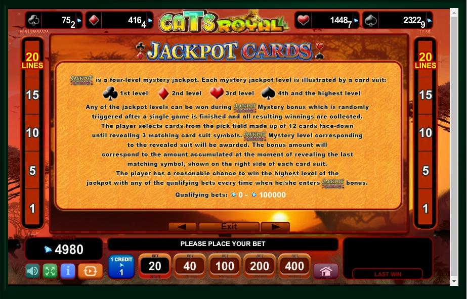 cats royal slot machine detail image 1